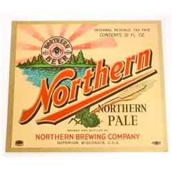 VINTAGE NORTHERN PALE BEER BOTTLE ADVERTISING LABEL