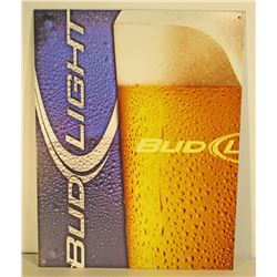 BUD LIGHT ADVERTISING METAL SIGN