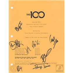 "The 100 ""His Sister's Keeper"" Script Cover Page Signed by 7 Cast Members"