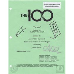 The 100  Thirteen  Script Cover Page Signed by Eliza Taylor & Alycia Debnam-Carey