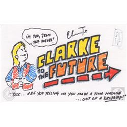 "The 100 ""Clarke To The Future"" Character Doodle Signed by Eliza Taylor"