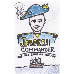 "The 100 ""Jasper and Commander"" Character Doodle Signed by Devon Bostick"