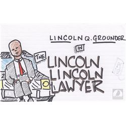"The 100 ""Lincoln Lincoln Lawyer"" Character Doodle"
