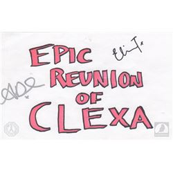 "The 100 ""Epic Reunion of Clexa"" Writers Room Notecard Signed by Eliza Taylor & Alycia Debnam-Carey"