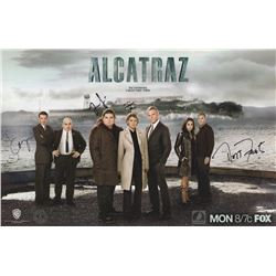Alcatraz WonderCon 2012 Mini Poster Signed by 5 Cast Members & Mess Hall Tray Signed by Jorge Garcia