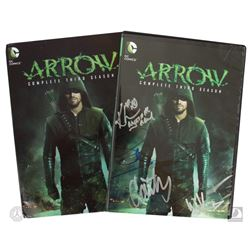 Arrow: Complete Third Season 5-Disc DVD Set Signed by 4 Cast Members