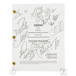 Arrow Pilot Script Signed by 12 Cast Members