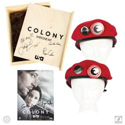 Colony Promotional Rations Kit Box Signed by Sarah Wayne Callies, Ryan Condal & Carlton Cuse