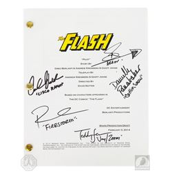 The Flash Pilot Script Signed by 5 Cast Members
