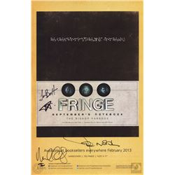 Fringe September's Notebook & Book Promo Poster Signed by John Noble & Michael Cerveris