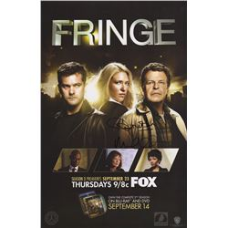 Fringe Season Three FOX Fall Promo Poster Signed by John Noble & Michael Cerveris