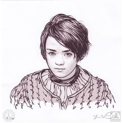 "Game of Thrones ""Arya"" Joshua Budich Limited Edition Art Print"