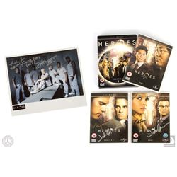Heroes Season Two DVD Signed by Jack Coleman & Milo Ventimiglia
