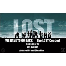 "LOST Pair of Tickets to the Michael Giacchino ""We Have to Go Back: The LOST Concert"" in LA (9/23/16)"