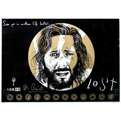 "LOST ""Not Penny's Boat"" Limited Edition Peter Strain Screen Print Signed by Henry Ian Cusick"