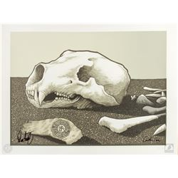 """LOST """"Uncovered"""" Limited Edition Justin Santora Screen Print Signed by Cuse & Lindelof"""