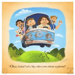"LOST ""Okay Dudes"" JJ Harrison Print Signed by Jorge Garcia"