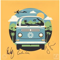 "LOST ""4 8 15 16 23 42"" Limited Edition Dharma Van Print Signed by Garcia, Cuse & Lindelof"