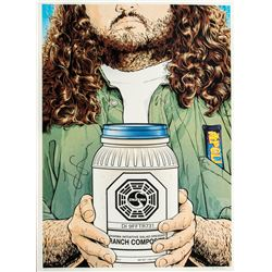 "LOST ""You Want to Change, Then Change"" Limited Edition Hurley Print Signed by Jorge Garcia"