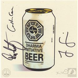 "LOST ""DHARMA Beer"" Limited Edition Print Signed by Jorge Garcia, Carlton Cuse & Damon Lindelof"