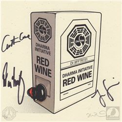 "LOST ""Dharma Wine"" Limited Edition Print Signed by Jorge Garcia, Carlton Cuse & Damon Lindelof"