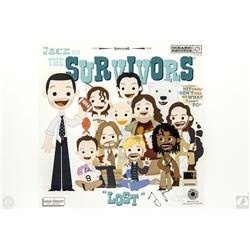 "LOST ""Jack and The Survivors"" Limited Edition Art Print Signed by Jorge Garcia"