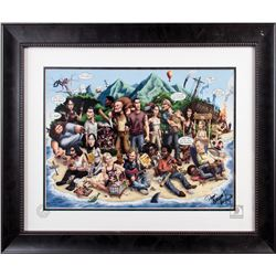 LOST Framed Cast Caricature Art by Chris Ayers