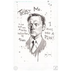 "LOST One-Of-A-Kind Ben Linus ""Trust Me"" Drawing by Gary Shipman"