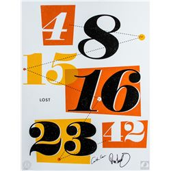 "LOST ""The Numbers"" Silkscreen Ty Mattson Print Signed by Carlton Cuse & Damon Lindelof"