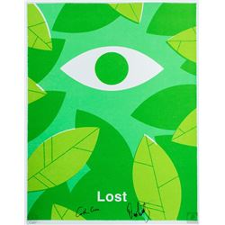 "LOST ""The Eye"" Silkscreen Ty Mattson Print Signed by Carlton Cuse & Damon Lindelof"