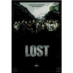 "LOST Framed Season Two ""Everything Happens For a Reason"" Poster"