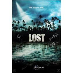 "LOST Season Four ""The Wait is Over"" Poster Signed by 7 Writers/Producers"