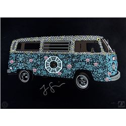 "LOST ARG Limited Edition ""The Dharma Van"" Art Print Signed by Jorge Garcia"