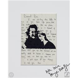LOST Custom Designed Desmond & Penny Print Signed by Sonya Walger