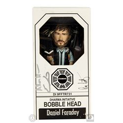 LOST Daniel Faraday Bobblehead Signed by Adam Horowitz, Eddy Kitsis & Damon Lindelof