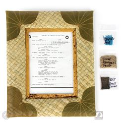 LOST Framed Script Side & Original Props Package
