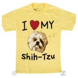 "LOST Limited Edition ""I Heart My Shih-Tzu"" T-Shirt Signed by Jorge Garcia"