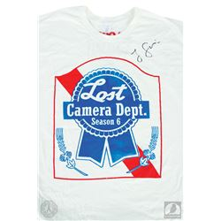 LOST Season Six Camera Dept. Crew T-Shirt Signed by Jorge Garcia