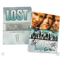 LOST The Complete First Season 7-Disc DVD Set Signed by 3 Cast Members & Cuse and Lindelof