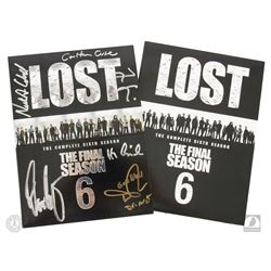 LOST The Complete Sixth Season 5-Disc DVD Set Signed by 4 Cast Members & Cuse and Lindelof
