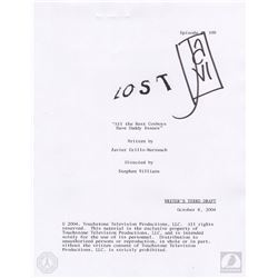 "LOST ""All the Best Cowboys"" Script & Story Break Note Cards Signed by Javier Grillo-Marxuach"