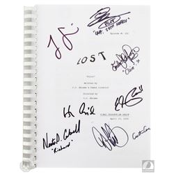 "LOST ""Pilot"" Script Signed by 6 Cast Members & Carlton Cuse and Damon Lindelof"