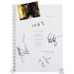 "LOST ""Two for the Road"" Script Signed by Jorge Garcia, Harold Perrineau & Damon Lindelof"
