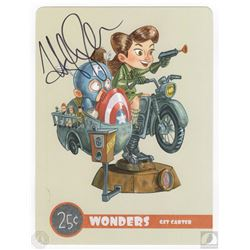 Marvel's Agent Carter Postcard Art Print Signed by Hayley Atwell
