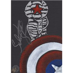 Marvel Captain America: The Winter Soldier Fan Art Signed by Sebastian Stan