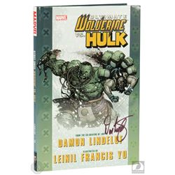 Ultimate Wolverine vs. Hulk Hardcover Graphic Novel Signed by Damon Lindelof