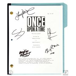 "Once Upon a Time ""The Snow Queen"" Script Signed by 3 Cast Members and Adam Horowitz & Eddy Kitsis"