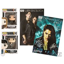 Orphan Black Funko Pop! Sarah and Felix Figures & Signed Comic Book