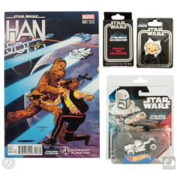 Star Wars Celebration Europe 2016 Exclusive Comic, Hot Wheels & Pins Package