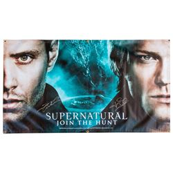 Supernatural Banner Signed by Jensen Ackles & Jared Padalecki